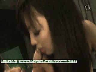sayuri ito naughty chinese girl gives a strong blowjob